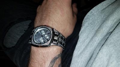 Men's Bulova Chronograph Crystal Accent Watch (Model: 96C002)