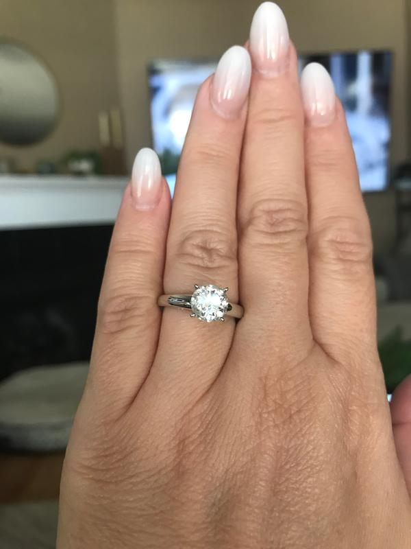 2 Ct Certified Diamond Solitaire Engagement Ring In 14k White Gold I I2 Diamond Rings Rings Zales
