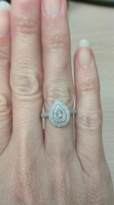 Zales Diamond Accent Beaded Teardrop Ring in Sterling Silver RzcbLLkl