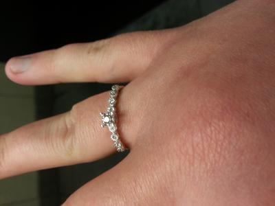 Zales 1/10 CT. T.w. Diamond Bubble Promise Ring in 10K White Gold XuqPQr3HW