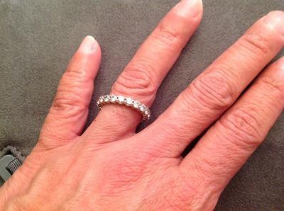 2 CT TW Diamond Eternity Band in 14K White Gold Round Wedding